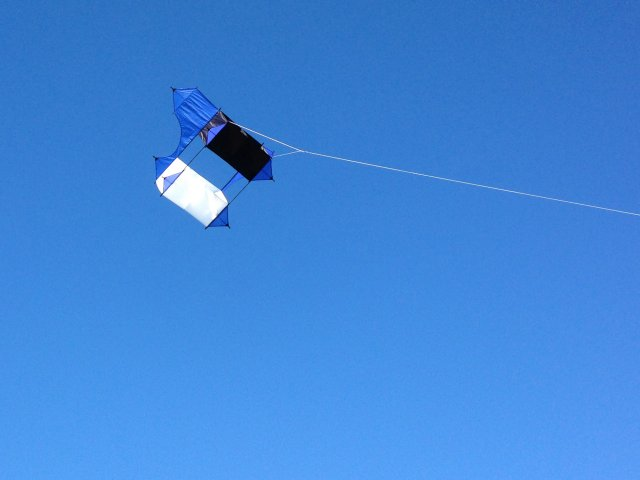 One of the kites flown at the One Sky, One World fly